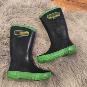 Bogs Rain Boots 1 Navy Green